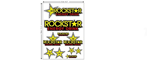 1 Set (10 Aufkleber) Rockstar Sticker Autocollant Motocross + plus TOPHEADS Eyewear...