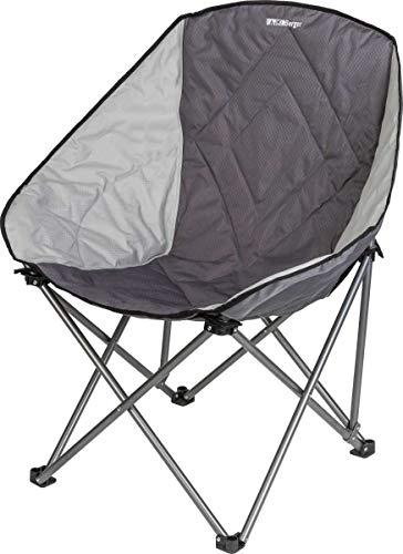 BERGER Faltstuhl Chillout grau Stahlgestell, belastbar bis 100 kg, Campingstuhl Klappstuhl