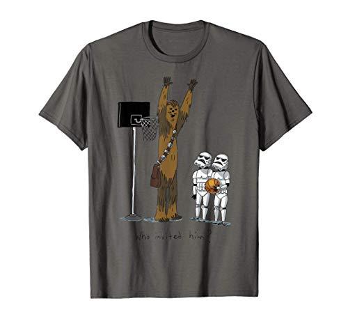Star Wars Chewbacca Basketball Who Invited Him T-Shirt