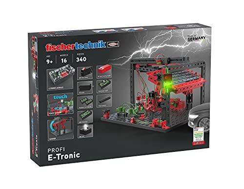 fischertechnik 559883 Profi E-Tronic Baukasten für Kinder ab 9 Jahren-Der Experimentierkasten mit 12 Modellen vermittelt spielerisch die Grundlagen der Elektronik