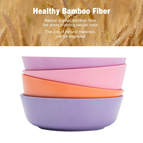 4pcs Bamboo Kids Bowls (20 fl oz) for Baby Feeding, Non Toxic & Safe Toddler...
