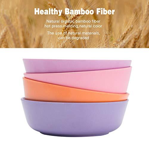 4pcs Bamboo Kids Bowls (20 fl oz) for Baby Feeding, Non Toxic & Safe Toddler...