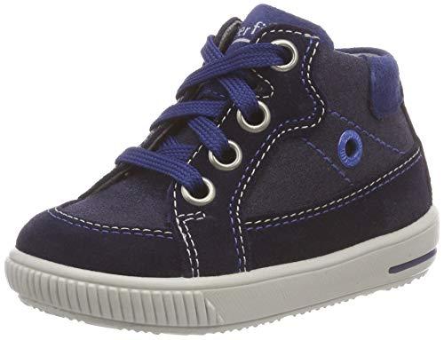 Superfit Baby Jungen Moppy Sneaker, Blau (Blau/Blau 80), 21 EU