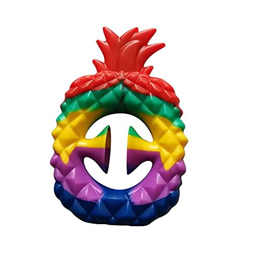 LULE Rainbow Piña Fidget Snappers juguete, apretar, agarrar, broche, sensorial, partido Popper ruido Maker alivio del estrés pops clic dedo sensorial Fidget juguete (A)