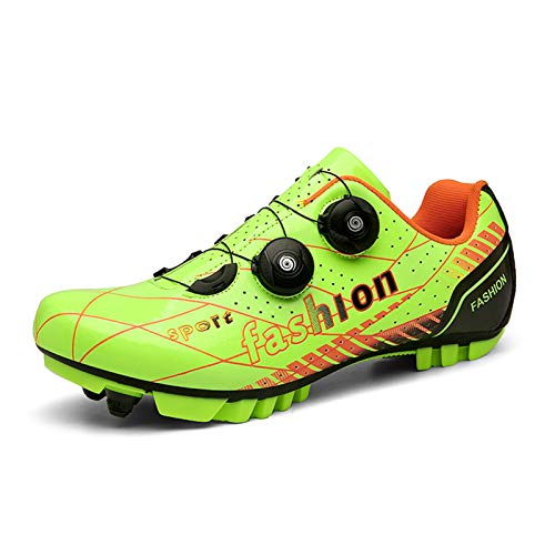Prodkfe Mens Womens Cycling Shoes Mountain Bike Shoes Road Bike Shoes MTB Spin Indoor Cycling Shoes with Quick Lace Compatible SPD Cleats Self-Locking
