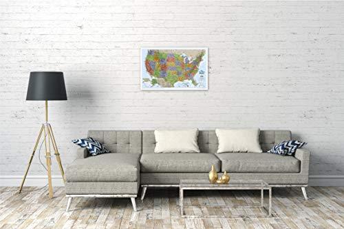 National Geographic: United States Explorer Wall Map (32 x 20.25 inches) (National Geographic Reference Map)