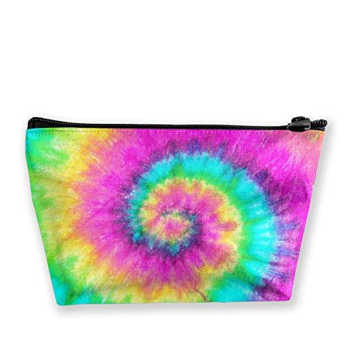 Bolsa de cosméticos con diseño de espiral, para mujer, adorable, espaciosa, de viaje, impermeable, para artículos de aseo