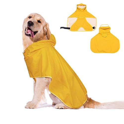 ACAMPTAR Chubasquero Transparente para Mascotas Perro Chubasquero Impermeable De PVC Chubasquero De Perrito De Mascotas M