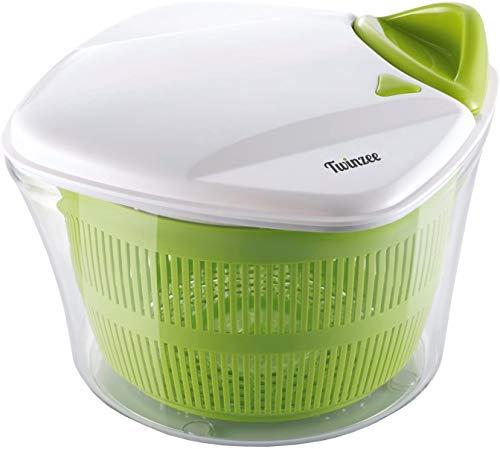 Twinzee - Essoreuse à Salade Grande Capacité (5L) - Design Innovant - Poignée ergonomique et...