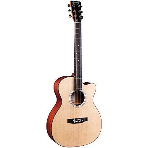 Martin Guitar 000CJr-10E Junior Cutaway Electric-Acoustic Guitar with Gig Bag, Sitka...