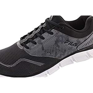 Fila Mens Memory Primary NSO Low Top Lace Up Running Sneaker, Grey, Size 11.0