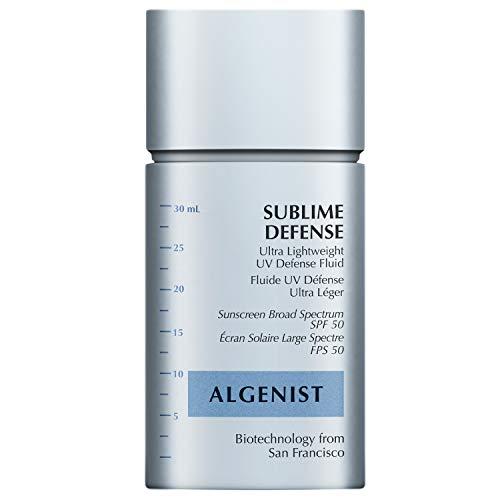 Algenist Sublime Defense Ultra Lightweight UV Defense Fluid SPF50 - Sheer, Oil-Free Face Sunscreen with Vitamin E, Echinacea & Green Tea - Non-Comedogenic & Hypoallergenic Skincare (30ml / 1oz)