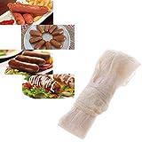Dyyicun12 Trockener Darm Wurst Hot Dog Salami Fleisch-Mantel Kochutensilien 28–30 mm