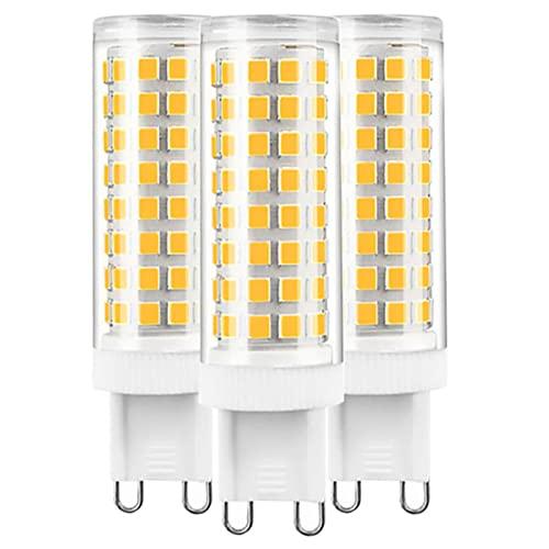 ZJYX Bombillas LED G9 12W, Regulable 102LEDs Blanco Frío 6000K Sin Parpadeo, 120W Bombilla Halógena Equivalente, 1200LM AC 220-240V Pack de 5