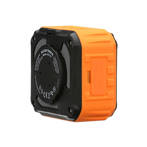 Product Image 7: Klein Tools AEPJS1 Wireless Speaker, Portable Jobsite Speaker Plays Audio and Answers Calls Hands Free, Durable Enough for Worksite Use