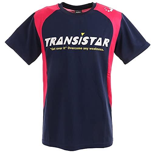 トランジスタ(トランジスタ) ハンドボールウェア ゲームシャツ HB21ST07-46 (ネイビー×ピンク/L/Men's、Lady's)