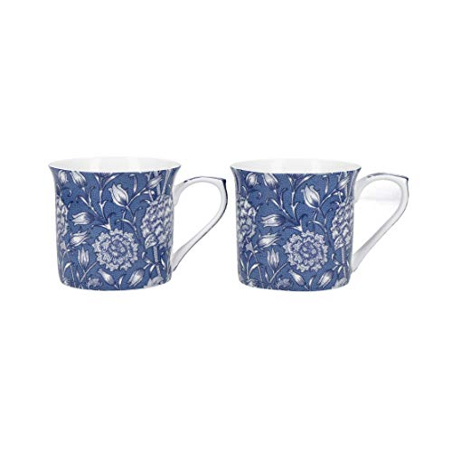 V&A 2er-Set William Morris - Wild Tulip Fine Bone China-Becher, 230 ml (8 fl oz)