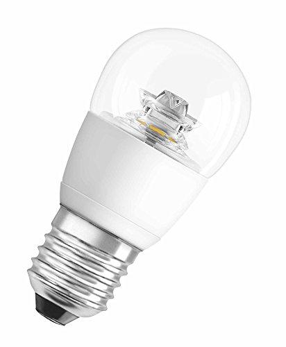 OSRAM LED STAR Ampoule LED, Forme sphérique, Culot E27, 5,7W Equivalent 40W, 220-240V, claire, Blanc Chaud 2700K, Lot de 1 pièce