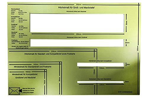 Post Postschablone Formatschablone Briefschablone Portoschablone