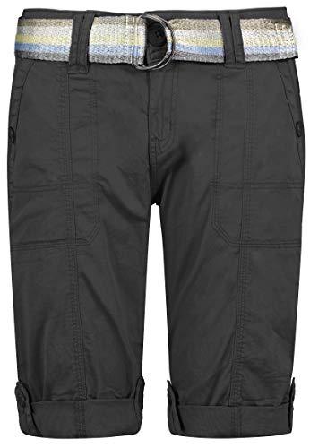 STS - Pantalones vaqueros cortos para mujer, en 15 colores, bermudas, tiro bajo con costuras de contraste, lavados Azul Medio S