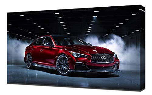 2014-Infiniti-Q50-Eau-Rouge-Concept-V1-1080 - Canvas Art Print - Muur Kunst - Canvas Wrap