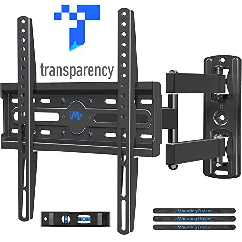 Mounting Dream MD2377TV Soporte de pared para TV para la mayoría de las pantallas planas LED, LCD, OLED de 26' a 50', con brazo articulado de giro de movimiento completo, hasta...