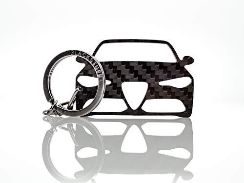 BlackStuff Portachiavi in Fibra di Carbonio Compatibile con Giulia BS-129