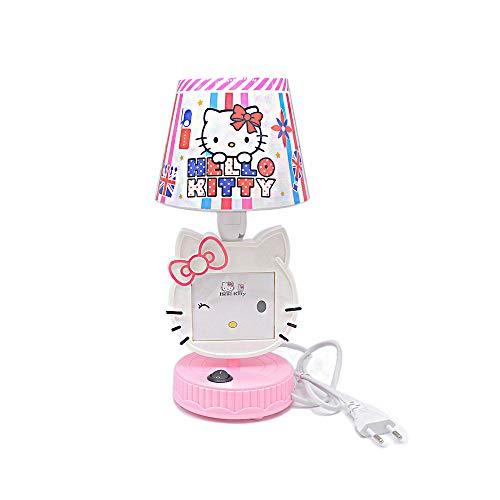 Pink/Rot LED Tischlampen Hello Kitty Nachtlichter Bilderrahmen Leselampen für Kinderzimmer Nachttischlampe Nachttischlampe, rose, Rosa