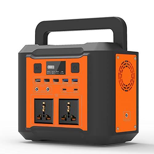 UKing 296Wh Generador Portátil, 80000mAh Generador Solar con 2 CA/QC 3.0/Typ-C y 4W luz LED para Acampar al Aire Libre, Viajes, Emergencia