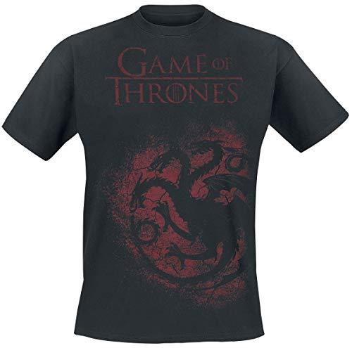 Game Of Thrones Camiseta House Targaryen Sigil (Negro) - L