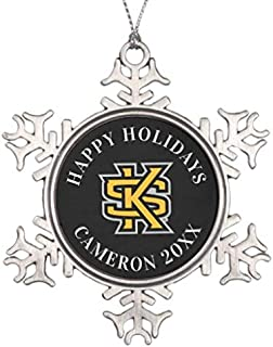 Diungfoong Kennesaw State Primary Mark Snowflake Pewter Christmas Snowflake Ornament