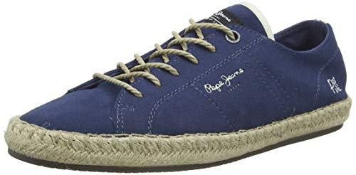 Pepe Jeans Tourist LAMU Suede, Sandalias con cuña Tipo Alpargatas para Hombre, Azul Jarman 574, 45 EU