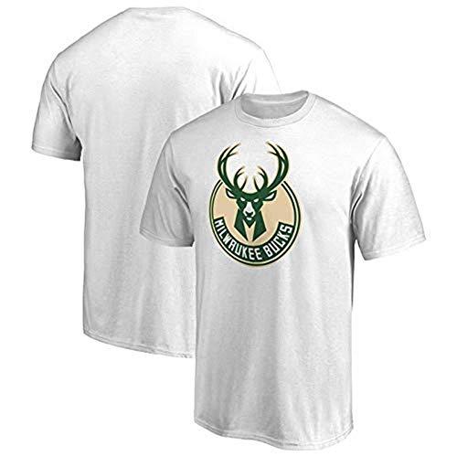 Li Longue Bucks Standard T-Shirt Yannis Adeto Maillot D'entraînement Kunbo Jersey Compassionate Hommes Et Femmes Chemise À Manches Courtes (Color : White, Size : L)