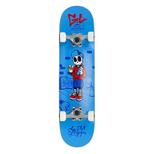 Enuff Skateboards Skully Complete Mini Skateboard Unisex Erwachsene, Unisex-Erwachsene, ENU2150, Blau (blau), 7.75