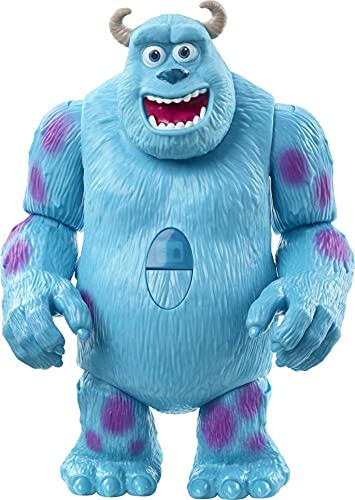 Mattel Pixar Interactables Sulley Talking Action Figure, 8-in Tall Posable Movie Character Toy, Interacts with Other Figures, Kids Gift Ages 3 Years & Older,Multi,GWC19