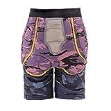 ZW Hip Protettivo Imbottito Pantaloncini, Bike Pattinaggio Sci Skateboarding Estremo Sport Armatura Shorts Impact Protection Shorts,L