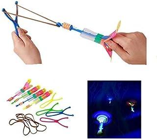 Led Lights Night 12 Piezas Helicóptero Flying Toys - Elástico Powered Sling Shot Heli. Flechas de tirachinas para flamear en helicóptero, increíbles helicópteros de Flecha en Cohete.