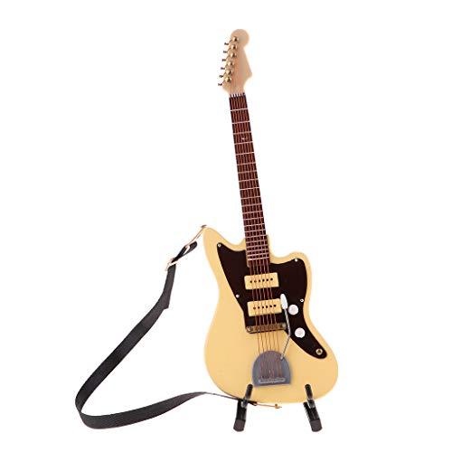 perfeclan Modelo de Guitarra en Miniatura de Mano de Obra Exquisita para Casa de Muñecas a Escala 1/6, de Acción de 12 Pulgadas, Accesorio de Muñeca (bei