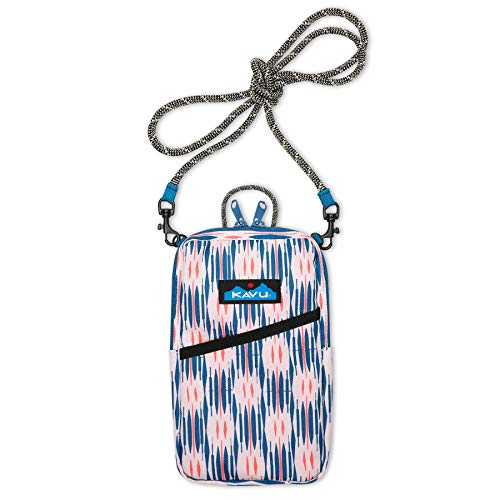 KAVU Essential Case Zip Crossbody Wallet with Rope Strap-Hazy Impressions