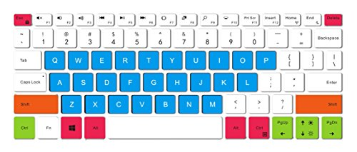Leze - Ultra Thin Silicone Laptop Keyboard Skin Protector for 13.3-Inch Dell XPS 13 9370,XPS 13 9365 2-in-1 Touch Laptop - White Blue