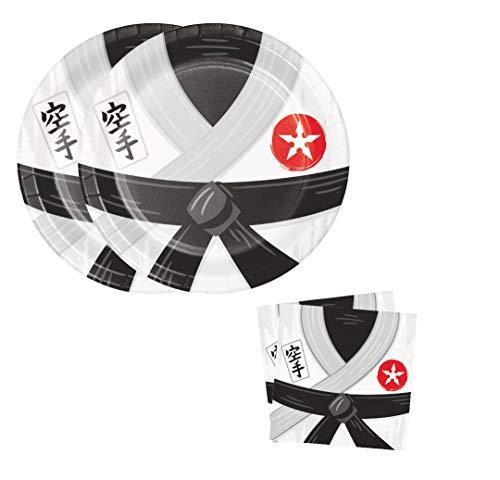 Servietten, Motiv Karate Party, 16 Stück
