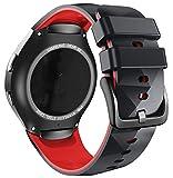 ANBEST Pulsera de Silicona Compatible con Correa Sport Gear S2 para Samsung Gear S2 SM-R720/SM-R730 Smart Watch (no para Gear S2 SM-R732), Pequeño, Negro/Rojo