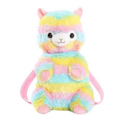 LANFIRE Karikatur Chubby Hamster Eichhörnchen Plüsch Spielzeug Puppe Rucksack Umhängetasche Geburtstagsgeschenk 1pc (sheep)