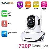 FLOUREON 720P Telecamera IP Camera Senza Fili WiFi...