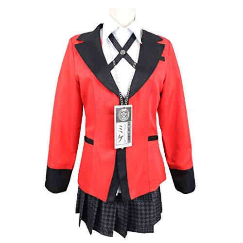 YKJ Traje de Cosplay de Anime Traje de Cosplay de la Fiesta de Halloween de la Escuela Secundaria para Las niñas Conjunto,Suit-M