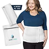 Adjustable Postpartum Belly Band - Plus Size Abdominal Binder, Latex Free - Hernia Belt for Women with Laundry Bag - Post Surgery Compression Garment - C Section Belly Binder (2XL)