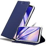 Cadorabo Book Case works with LG V30 in CLASSY DARK BLUE -