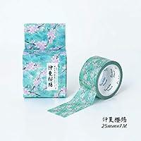 美しい桜の季節和紙テープ粘着テープDIYスクラップブッキングステッカーラベルマスキングテープ