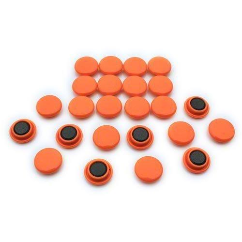 Magnet Expert Ltd - Magneti per bacheca frigorifero, misura piccola, 20 x 7,5 mm (confezione da 24), colore: Arancione