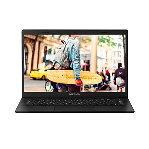 MEDION E4251 35,6 cm (14 Zoll) Full HD Notebook (Intel Celeron N4020, 4GB DDR4 RAM, 64GB Flash-Speicher, Webcam, Win 10 Home im S Modus)